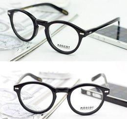 Wholesale Eyeglass Frame Vintage Glasses frame Black Tortoise Crystal Blonde Color with word size on arm