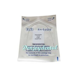 Wholesale 10 Packs Niti Super Elastic White Color Orthodontics Arch Wire Round Lower