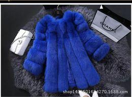 Wholesale New Fashion Winter Fur Jacket Woman Fox Fur Coat For Women s Furs Coats Women Warmest Ladies Overcoat T039