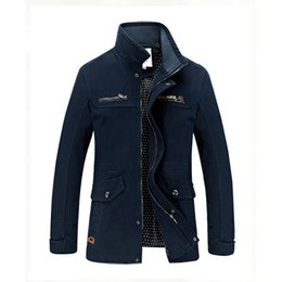 Wholesale Otoño invierno para hombre de capas de las chaquetas rompevientos de la alta calidad del estilo militar chaqueta para los hombres Escudo Ejército Jaqueta exterior Casaco Masculino