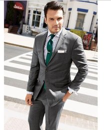Wholesale New high end atmosphere the groom suits two piece single row two button gentleman elegant men s suit