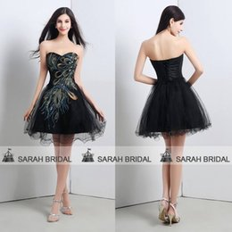 Wholesale 100 Real Pictures Short A line In Stock Cocktail Dresses Tulle Beaded Sweetheart Neckline Sequins Mini Lace up Prom Dresses Gowns SQ16102