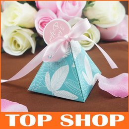 Wholesale Baby Candy Box Colorful Candy Gift Boxes Wedding Favour Boxes Baby Shower Sweet Box with Ribbon and Tags HQ1173