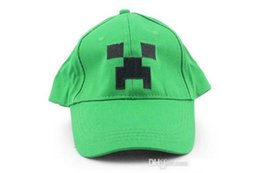Wholesale 2015 new minecraft hat Minecraft JJ Monster Creeper Toy Hat baseball hat Sun hat Peaked Cap Green