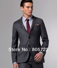 Discount Mens Solid Grey Suits | 2017 Mens Solid Grey Suits on