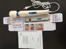 Wholesale 10 Velocidad varita mágica masajeador AV Vibrador Con velocidades Hitachi vara vara Massager Juguetes sexuales para la mujer