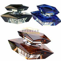 Wholesale Elegant K9 Crystal Car Perfume Seat Auto Perfume Bottle Base Set Without Perfume