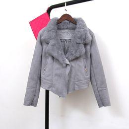 Berber Fleece Coat Fur Collar Online | Berber Fleece Coat Fur ...