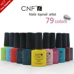 Wholesale Hottest CNFShellac Colors Amazing soak off led uv gel nail polish professional salon nail gel art varnish uv gel