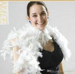 Wholesale 50pcs Glam Flapper Dance Fancy Dress Costume Accessory Feather Boa Scarf Wrap Burlesque Can Saloon Z903