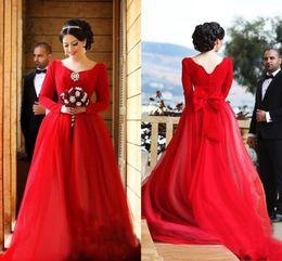 Wholesale Sweetheater Wedding Dresses V Neck Tulle Full Length Formal Party Bridal Dress Custom Vestidos Long Sleeves Wedding Gowns Sleeves