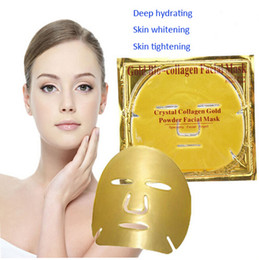 online shopping Gold Bio collagen makeup Facial Mask to Face Crystal Powder Moisturizing Anti wrinkle Anti aging Skin Care gold Treatments Masks gifts