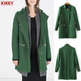 Wholesale 2014 Manteau Femme Abrigo De Invierno Las Mujeres Abrigo Mujer Invierno Zipper Cuffs Collar Woolen Coat NZ1388