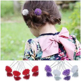 Wholesale Beautiful Hair Pins Korean Style Flowers Hair Clips Hair Accessories For Women Kids Color Choose GRY