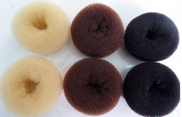 Wholesale 50 Fashion Bun Hair Former Doughnut Shaper Ring Styler Hairdressing Hair Rubber Bands S M L