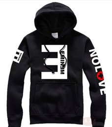 Wholesale 2015 Winter Men s Fleece Hoodies Eminem Printed Thicken Pullover Sweatshirt Men Sportswear Fashion Clothing