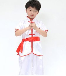 Wholesale Children s clothes martial arts clothing shadowboxing embroider white