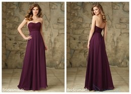 Discount Bridesmaid Dresses Eggplant Purple | 2017 Bridesmaid ...