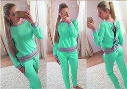 Wholesale Woman Sweatshirt Clothes Sets Jogging Suits For Women Tracksuits Piece Set Women Sport Suit Set Jogging Casual Long Pants