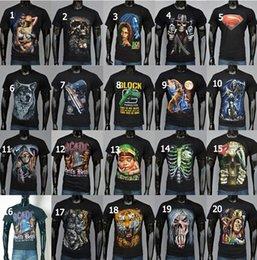 Nouveau T-shirt 3D T-shirt de sport de mode T-shirt de crâne d'os T-shirt Taille de T-shirt d'impression de coton S-XXL 3D T-shirts d'été des hommes DDA2977 120pcs