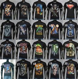 Shirt do esporte da forma T-shirt do esporte da forma T-shirt do crânio do osso T-shirt da cópia do algodão S-XXL T-shirt do verão dos homens 3D DDA2977 120pcs