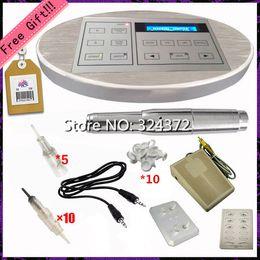 Wholesale Fashion price Silver aluminum brand intelligent digital permanent makeup Tattoo Kit eyebrow lip machine power supplies