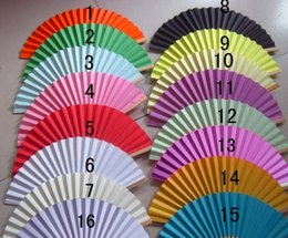 Wholesale Paper Fans Wedding Gift Fans DIY Painting Fans Handmade inches Multi Colors available Bamboo with Two sides Paper Fancy Bridal Accessories