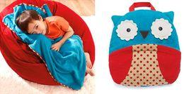 Wholesale Christmas Gift Baby Quilt Animal Print Blanket Multifunctional Pillow Duvet ChildrenTravel Blanket Handbag