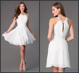 Wholesale 2015 Graduation Dresses Cheap Pleats Short Homecoming Dress Party Beach Mini Prom Gowns Sexy Personalized Pageant Cocktail Dress