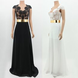 Wholesale 2015 New sexy mother off bride dresses white black Backless Cap Sleeve Chiffon Wedding Party Dress Bridesmaids Dress top quality L0367
