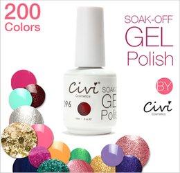 Wholesale 60pcs DHL high quality soak off gel polish nail gel lacquer varnish CIvi led uv Nail Polish colors ml