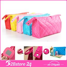 Wholesale Rhomboic Women Cosmetic Bags Makeup Bags Mini Travel Bags with high quality
