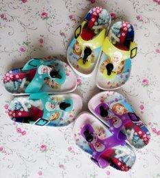 Wholesale new fashion kids slippers girl sandel shoes frozen shoes summer children shoes princess elsa anna shoes