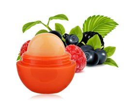 Wholesale 2015 newest Brand New Round Style Smooth Moisturizing Fruit Flavor Organic Natural Lip Balm Makeup Lip Care Colors