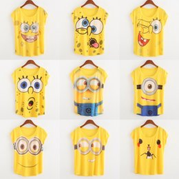 Wholesale Hot New Women Despicabe Me T shirt Big girls Casual Short Sleeve T shirt Lovely Minions Cartoon D Print Women Shirt Top