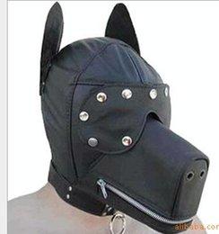 Wholesale 2014 New Ultimate Leather Dog Hood Adult Face Mask Fetish Fantasy Sex Slave Set Cosplay