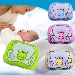 Wholesale 1PCS Soft Baby Infant Bedding Bear Print Oval Shape Cotton Baby Shaping Pillow High Quality