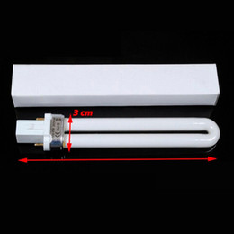 Wholesale 9W Nail UV Gel Machine Lamp Light Bulb Nail Dryer UV Curing Lamp Tube for Nail Dryer ree Shipping DHL