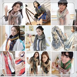 Wholesale Womens Fabric Fashion Scarf Womens Fabric New Womens Blue and White Porcelain Scarf Fashion Womens Pairs Tarn and Printing Scarf