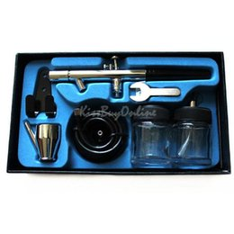 Wholesale 0 mm Dual Action Airbrush Spray Paint Painting Gun Kit for Makeup Tattoo K5BO