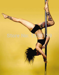 Wholesale Dance steel pipe Professional Spinning Dance Pole Home removable dance training pole professional stripper dance pole
