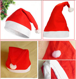 Discount baby adult cap hat Christmas holiday party Decoration hats Xmas caps Santa Claus hat adults children kids baby Christmas Cosplay red Hats gift children adult