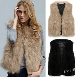 Discount Ladies Black Faux Fur Vest | 2017 Ladies Black Faux Fur