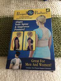 Wholesale 50PCS LJJH1278 Royal Posture Energizing Posture Support Brace Align Spine Your Spine For Men Women Royal Posture Back Support