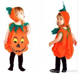 Wholesale Boys Girls Halloween Pumpkin Costumes Clothing Classic Halloween Costumes for Kids Sleeveless Costume For babies Kids HC74