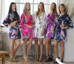 túnicas de las mujeres traje Batas de seda del vestido de boda del camisón ropa de noche del camisón de satén real del baño kimono más el tamaño S-XXL 15 del color de DHL