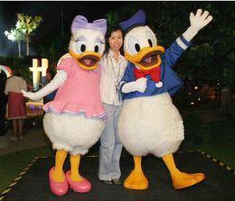 Wholesale Professional Cartoon Donald Duck CARTOON MASCOT COSTUME SUIT ADULT SIZE