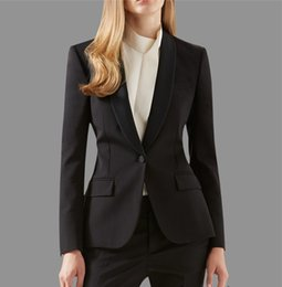 Wholesale New Formal Women Suit for Office Ladies Business Suit Custom made Black Professional Work Wear Clothes