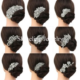 Wholesale Bridal hair comb Wedding hair jewelry crystal hair piece pearls hair accessories Art Deco Head Piece Headdress