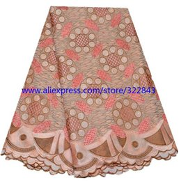 Wholesale African swiss voile lace high quality big flower wedding lace African Fabric y Cotton Swiss Voile Lace